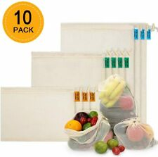 Cotton Mesh Reusable Produce Bags Eco-Friendly,Grocery,Frui t & Vegetable Storage