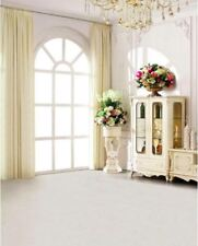 White French Style Room WINDOW FLOWERS Backdrop Vinyle Photo Prop 5x7ft 150x220cm