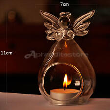 Angel Hanging Tea Light Candle Holder Glass Crystal Home Decor Candlestick x 1