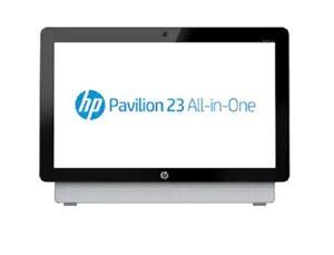 "HP Pavilion 23-A200A AIO A4-3400 3.7GHZ 4GB 500GB DVDRW WIFI WEBCAM W10 FHD 23"""