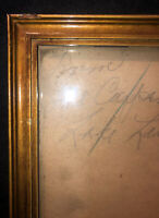 Antique Gilded Wood Picture Art Frame Thin Frame Glass Cover 22x14.25