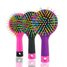 Anti Tangle Rainbow Hair Brush Massage Volume Combs Brushes Comb Curl Straight