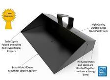 HEAVY DUTY TRADE WIDE METAL DUSTPAN STRONG 350mm INDUSTRIAL DUST PAN