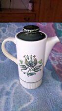 PALISSY HEIDI TEA/COFFEE POT GREEN /WHITE 24CM TALL VGC