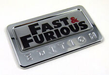 Fast and Furious custom Edition Chrome Emblem with domed decal Car Auto Badge