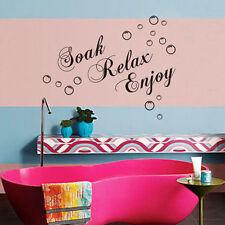 """DIY """"Soak Relax Enjoy"""" Wall Decal Sticker Home Decor Bathroom Bath Time"""