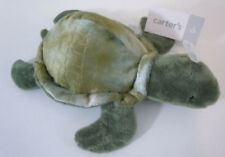 Carter's Green Sea Turtle Plush Stuffed Lovey Baby Toy NWT