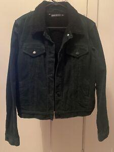 Dangerfield Green Cord Fleece Lined Jacket - 12