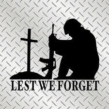Lest We Forget Military Army Wine Bottle Wall Car Van Bike Window Glass Sticker