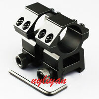 2pcs 25.4mm Ring 20mm Rail Picatinny Mount For Rifle Laser sight Torch hunting