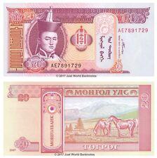 Mongolia 20 Tugrik 2007  P-63d Banknotes UNC