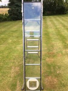 Double glazed glass Sealed unit with cat flap - 1700 mm x 320 mm
