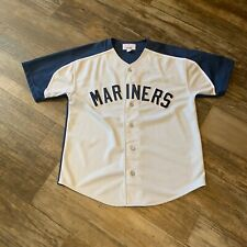 Large Vintage Starter Seattle Mariners Stitched Jersey
