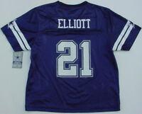 NWT Ezekiel Elliot 21 Dallas Cowboys MESH Jersey Navy Blue Jr Womens Sz M - 3XL