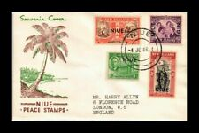 1946 Fdc Niue Overprint First Day Issue Souvenir Cover Niue Peace Stamps Lot 3