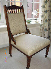 Fabric Victorian Antique Chairs