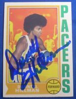 DARNELL HILLMAN signed autograph auto 1974-75 Topps ABA Indiana Pacers
