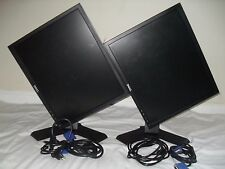 """Matching DUAL Dell Ultrasharp 19"""" P190SC LCD Gaming Monitors w/cables Works Nice"""