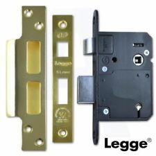 "LEGGE 76mm (3"") 5 LEVER SASH LOCK SASHLOCK BS BRITISH STANDARD POLISHED BRASS"