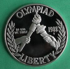 1988 S Olympique Torche Proof Dollar Argent Commémorative US Mint Monnaie