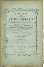 CATALOGUE AUTOGRAPHES 6/1905 DESAIX MASSENA LA FAYETTE