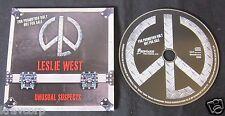 LESLIE WEST 'UNUSUAL SUSPECTS' 2011 ADVANCE CD
