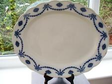 19th c Victorian Barker & Kent - Flow Blue Platter - Queen Design - c1898