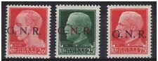 1944 RSI - GNR - c. 20 n° 473 MNH** + c. 25 n° 474/Iq + c. 75 n° 478 MH* - € 78
