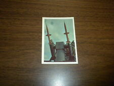 MISSILES AND SATELLITES trading card #33 PARKHURST 1958 space rockets planets