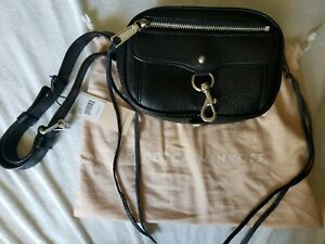 Rebecca Minkoff Fanny Pack Black Leather Blythe Belt Bag NWT With Dust Bag