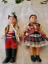 Vintage 8 Inch Plastic Boy And Girl Doll From Germany