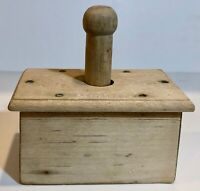 Antique Butter Press Mold  Pineapple Stamp  Wooden With Dovetail Construction LS