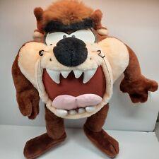 "Vintage Looney Tunes Tazmanian Devil Taz Plush Stuffed Animal 21"" with Tag"