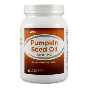 GNC Pumpkin Seed Oil 1000mg 100 Softgels