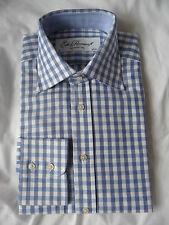"EDE & RAVENSCROFT  brand new pale blue check dress shirt 15"" RRP £89"