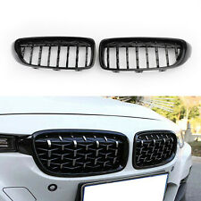 Gloss Black Diamond Front Upper Grille For BMW 4 Series F32 F33 F36 F82 14-18 AU