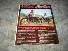 1975 INDIAN ENDURO Cycle Ad 8 reasons:  175cc  100cc