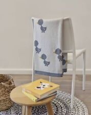 Baby Boys Girls Cotton Duck Cot Pram Blanket Wrap Indus Design Gift Boxed