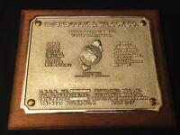 1957 Babcock & Wilcox 3D Decorative Industrial Brass Boiler Pressure Code Plaque