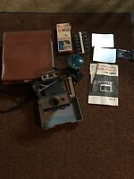 Polaroid 320 Land Camera With Case Flash Flashbulbs Instruction Book Vintage