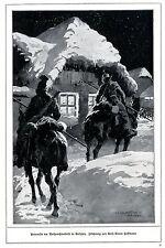 Patrouille am Weihnachtsabend in Galizien 1914 * WW 1