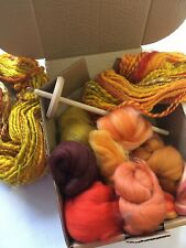 Learn To Hand Spin, Small Drop Spindle Kit 100g Merino Wool, Hand Spinning
