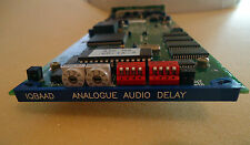 SNELL & WILCOX IQBAAD 2 CHANNEL ANALOG AUDIO DELAY CARD WITH REAR MODULE