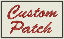 Custom Embroidered Patches, Set of 5 patches with your logo - 4x1 inch