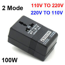 Travel 110V to 220V&220V TO 110V  AC Power Voltage Converter 100W Transformer