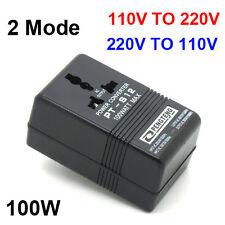 Travel 110V to 220V&220V TO 110V  AC Power Voltage Converter 100W Transformer