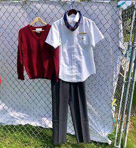 Vintage 90's Complete McDonalds Uniform NWT Top, Sweater, Pants, Belt ,Pin Scarf