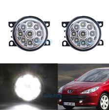 2Pcs Cree White Fog Lamps LED Light For Peugeot 207 307 407 607 3008 Van 2000-13