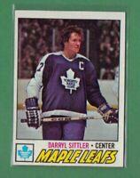 1977 78 Topps DARRYL SITTLER #38 TORONTO MAPLE LEAFS HOF NICE