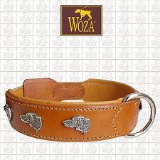 Premium Hundehalsband Pitbull WOZA Lederhalsband Rindnappaleder Collar Ce1377